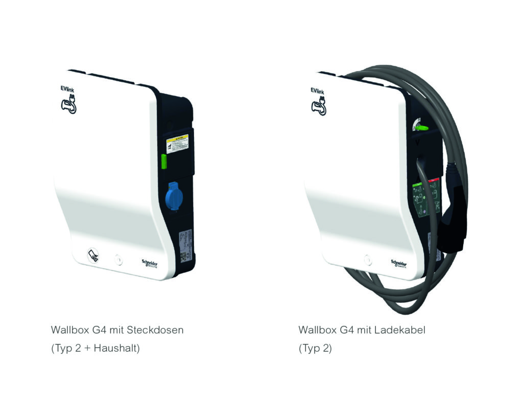 Die Wallbox G4 von Schneider Electric ermöglicht das Laden mit bis zu 22 kW