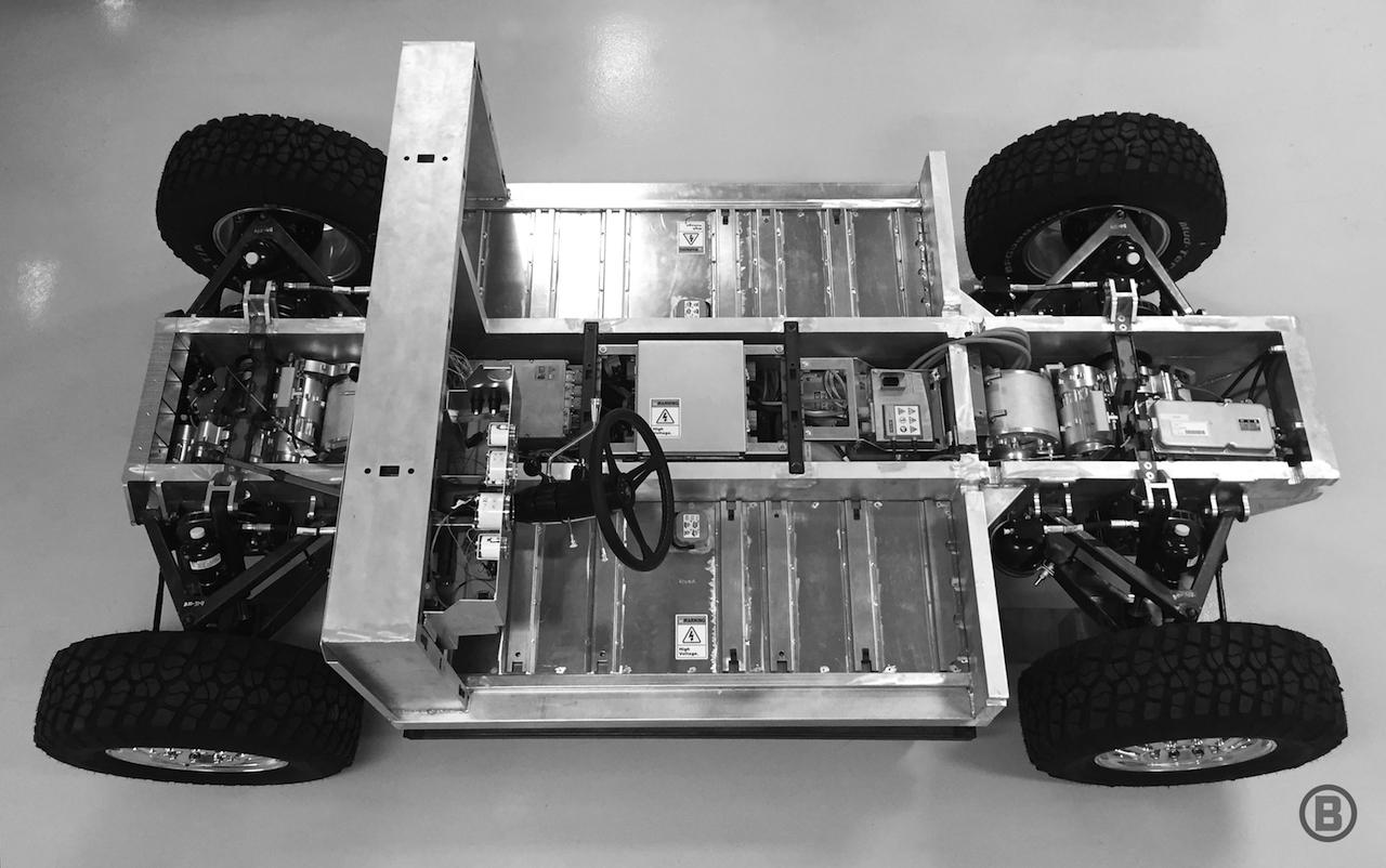 Ins Chassis integrierte Batterien mit bis zu 100 kWh lassen Raum für ganz viel Nutzwert
