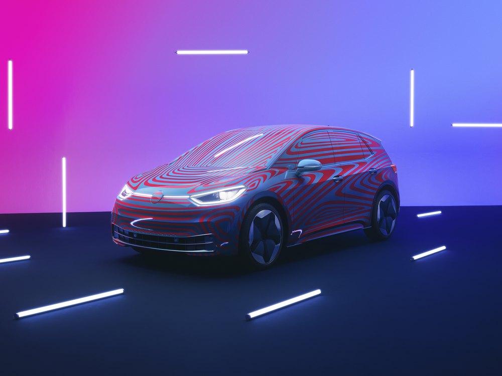 VW ID.3 Prototyp Totalaufnahme