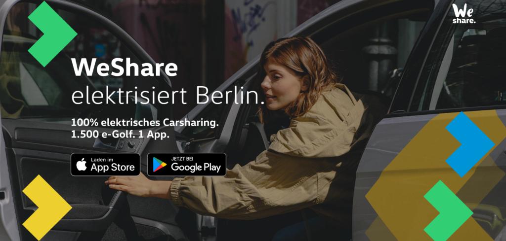 Volkswagen WeShare startet in Berlin mit einer Flotte von 1.500 e-Golf