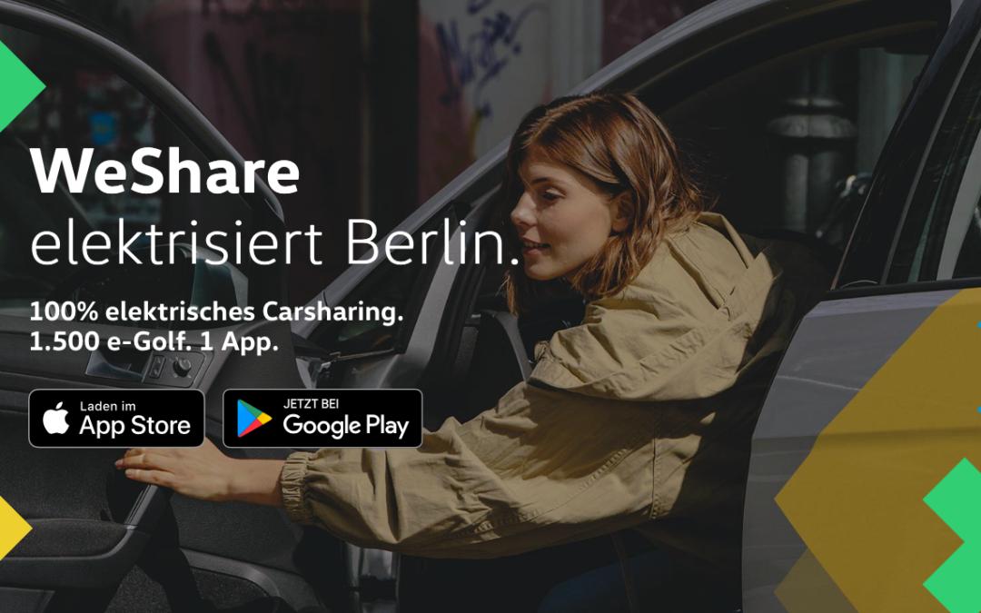 Volkswagen WeShare startet vollelektrisch in Berlin