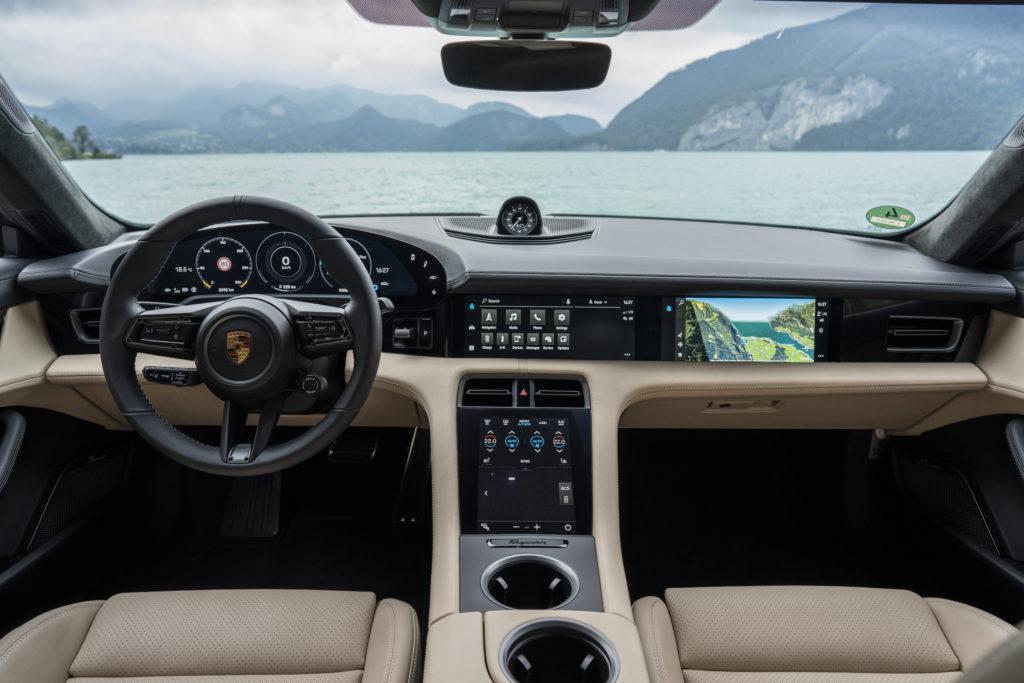 Luxuriöses Interieur mit genügend Hightech für ein EV