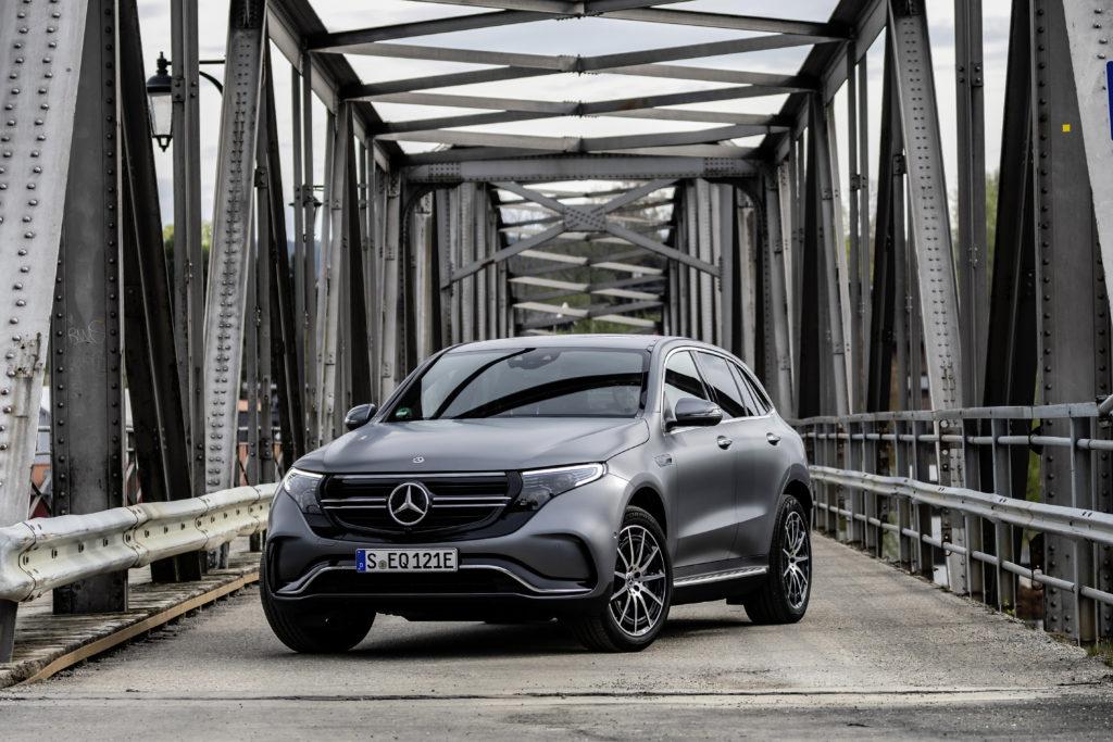 Front Ansicht des Mercedes EQC