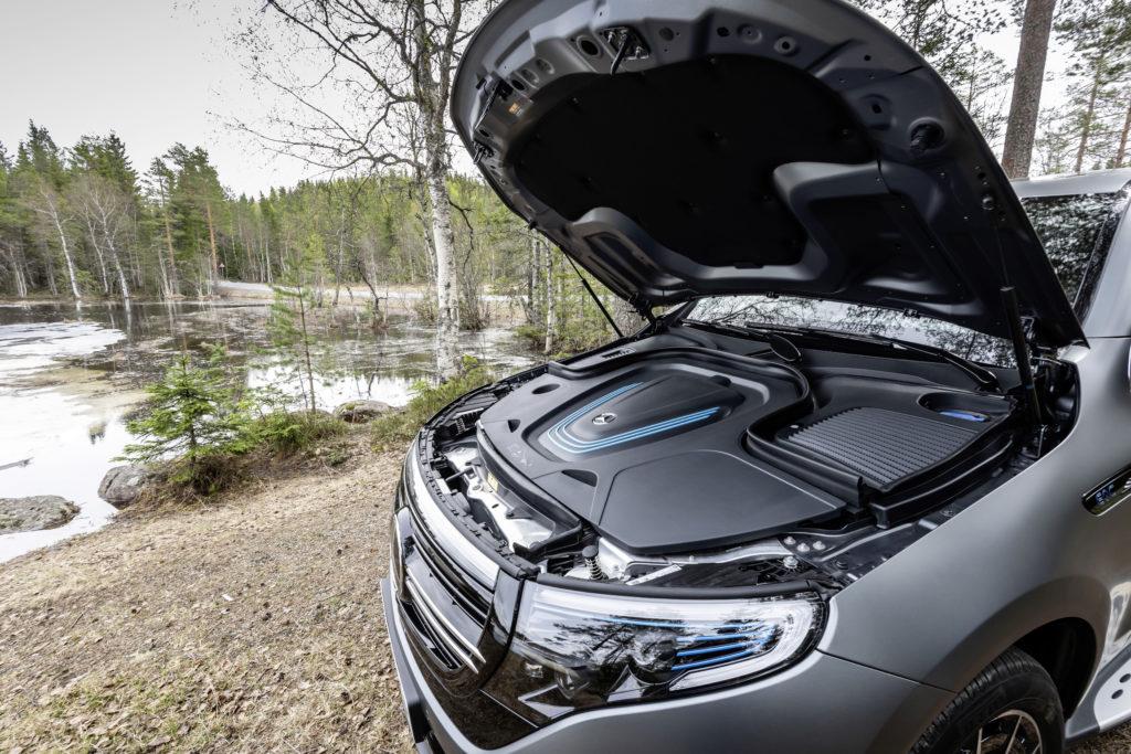 Elektromotor des Mercedes EQC