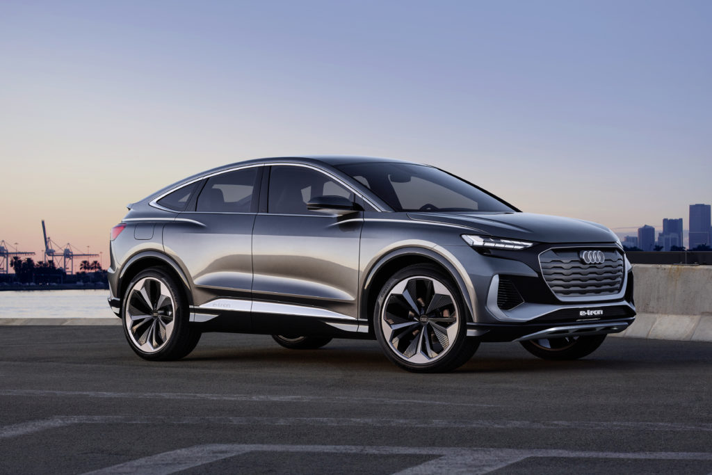 Auf der Grundstruktur des ID.4 hat Audi eine bestechende Silhouette gezeichnet