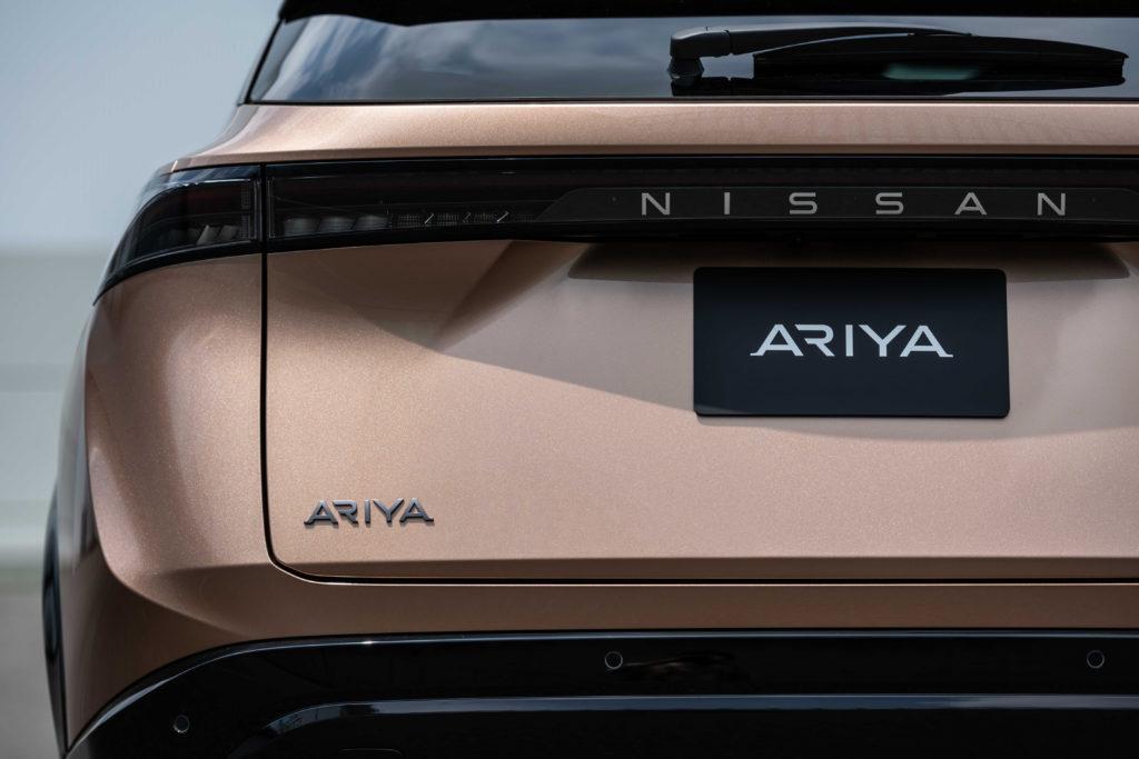 Ebenfalls markant: Die Heckansicht des Nissan Ariya
