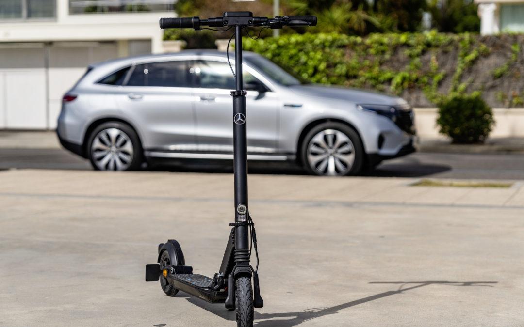 Mercedes Benz E-Scooter – aufrecht ans Ziel